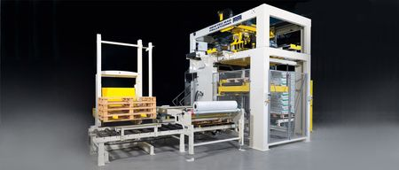 Palletizer - Series 500 / 1000 GRIP: Bag palletizing by robotic gripping arm
