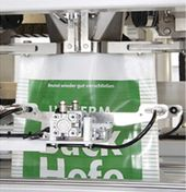 BEHN + BATES open-mouth bag filling system for bagging of granules & grains